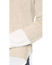Brochu Walker | Natural Looker Crew Layered Sweater | Lyst