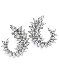 DANNIJO | Metallic Arabella Crystal Earrings | Lyst