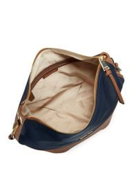 Calvin Klein | Blue Faux Leather-accented Hobo Bag | Lyst