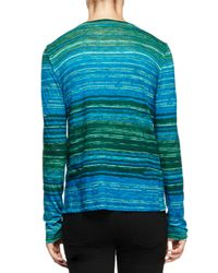 Proenza Schouler - Blue Long-sleeve Multi-striped T-shirt - Lyst