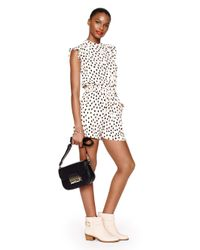 kate spade new york - Multicolor Leopard Dot Crepe Romper - Lyst