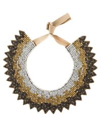 Valentino | Brown Crystal Necklace | Lyst