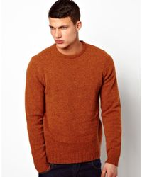 ASOS - Red Lambswool Jumper for Men - Lyst