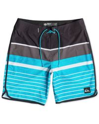 "Quiksilver | Blue Ag47 Everyday Scalloped 20"" Board Shorts for Men 