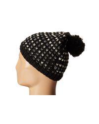 Hat Attack - Black Birdseye Beanie With Pom - Lyst