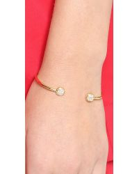 Sarah Chloe | Metallic Jolie Diamond Bracelet - Gold/clear | Lyst