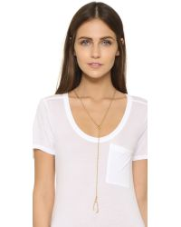 Madewell | Metallic Wishbone Lariat Necklace | Lyst
