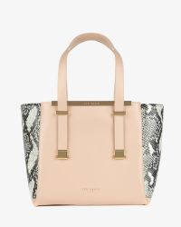 Ted Baker - Natural Exotic Leather Shopper Bag - Lyst