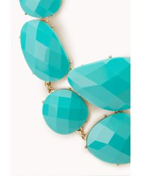 Forever 21 - Blue Standout Faux Stone Bib Necklace - Lyst