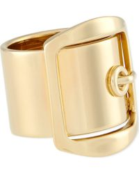 Givenchy - Metallic Gold Buckle Ring - Lyst