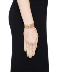 Philippe Audibert - Metallic Five Line Cuff - Lyst