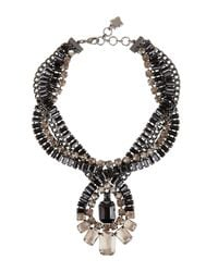 BCBGMAXAZRIA | Brown Twisted Stone Statement Necklace | Lyst