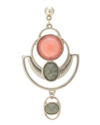 Oasis - Multicolor Stone Drop Earrings - Lyst