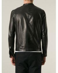 Salvatore Santoro | Black Band Collar Jacket for Men | Lyst