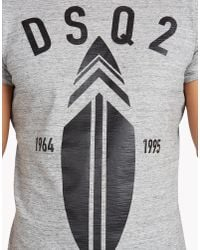 DSquared² - Gray Chic Dan Fit T-shirt for Men - Lyst