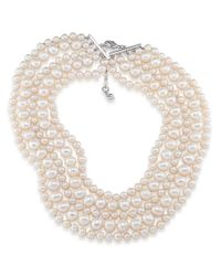 Carolee | White Fresh Water Pearl Five-row Torsade Necklace | Lyst