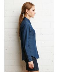 Forever 21 | Blue Classic Chambray Shirt | Lyst