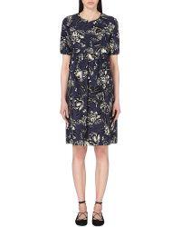 'S Max Mara | Blue Tequila Floral-print Dress | Lyst
