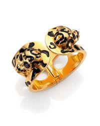 Alexander McQueen | Metallic Leopard Skull Bracelet | Lyst