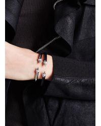 Vita Fede - Metallic Mini Titan Silver-plated Twin Spike Bracelet - Lyst