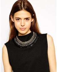 ALDO - Black Brancorsi Statement Collar Necklace - Lyst