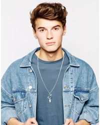 ASOS | Metallic Necklace With Dreamcatcher Charm for Men | Lyst