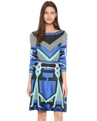 Temperley London - Blue Brooke Flared Dress - Lyst