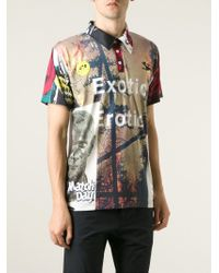 Soulland - Black Digital Print Polo Shirt for Men - Lyst