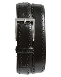 Cole Haan | Brown Perforated Leather Belt for Men | Lyst