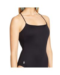 Polo Ralph Lauren | Black Lace-up One-piece | Lyst