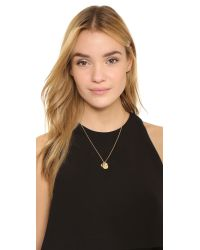 kate spade new york - Metallic Horsehoe Pure Luck Charm Necklace - Lyst