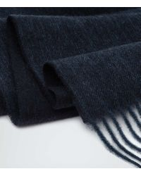 Reiss | Black Kingston Cashmere Blend Scarf for Men | Lyst