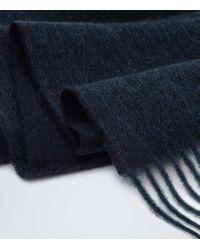 Reiss - Black Kingston Cashmere Blend Scarf for Men - Lyst