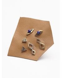 Free People - Blue Tiny 6 Pack Studs - Lyst