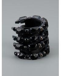 Emanuele Bicocchi - Black Stone Cuff - Lyst