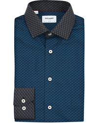 Duchamp | Blue Slim-fit Cotton Shirt for Men | Lyst