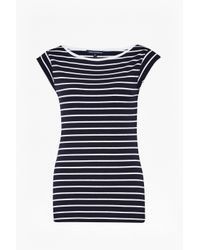 French Connection | Blue Timtim Stripe Top | Lyst