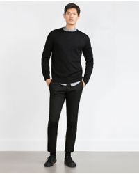 Zara | Black Merino Wool Sweater for Men | Lyst