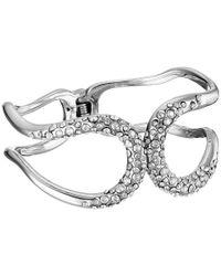 Alexis Bittar | Metallic Crystal Encrusted Hinged Bracelet | Lyst