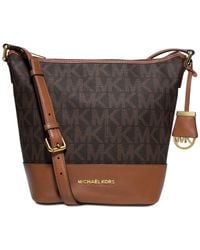 Michael Kors | Brown Michael Bedford Signature Medium Messenger | Lyst