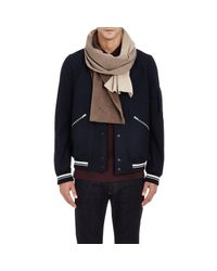 Barneys New York - Brown Colorblocked Scarf for Men - Lyst