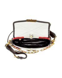Miu Miu - Red Matelassé Leather Shoulder Bag - Lyst