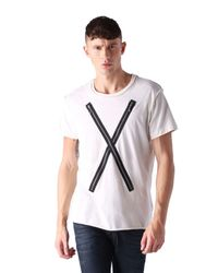 DIESEL - White T-odil for Men - Lyst