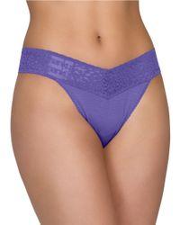 Hanky Panky | Purple Logo Thong | Lyst