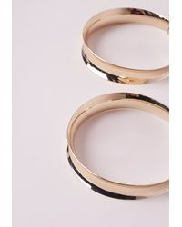 Missguided | Metallic Retro Gold Hoops | Lyst