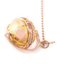 True Rocks   Metallic Small Globe Necklace   Lyst