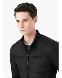 Mango | Black Zip Nylon Jacket for Men | Lyst