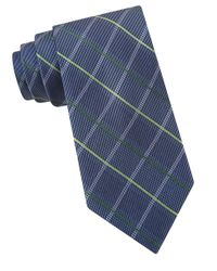MICHAEL Michael Kors | Blue Woven Grid Silk Tie for Men | Lyst