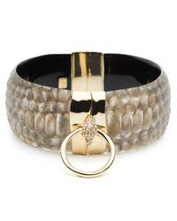 Alexis Bittar | Metallic Croc Ring Hinge Bracelet | Lyst
