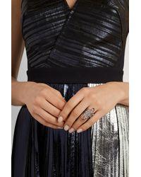 Diane Kordas - Metallic Arabesque 18-Karat Blackened Gold Diamond Ring - Lyst